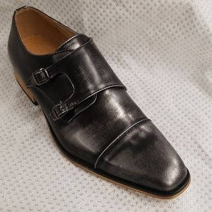 UV SIGNATURE Men's Double Monk Strap Cap Toe Shoes
